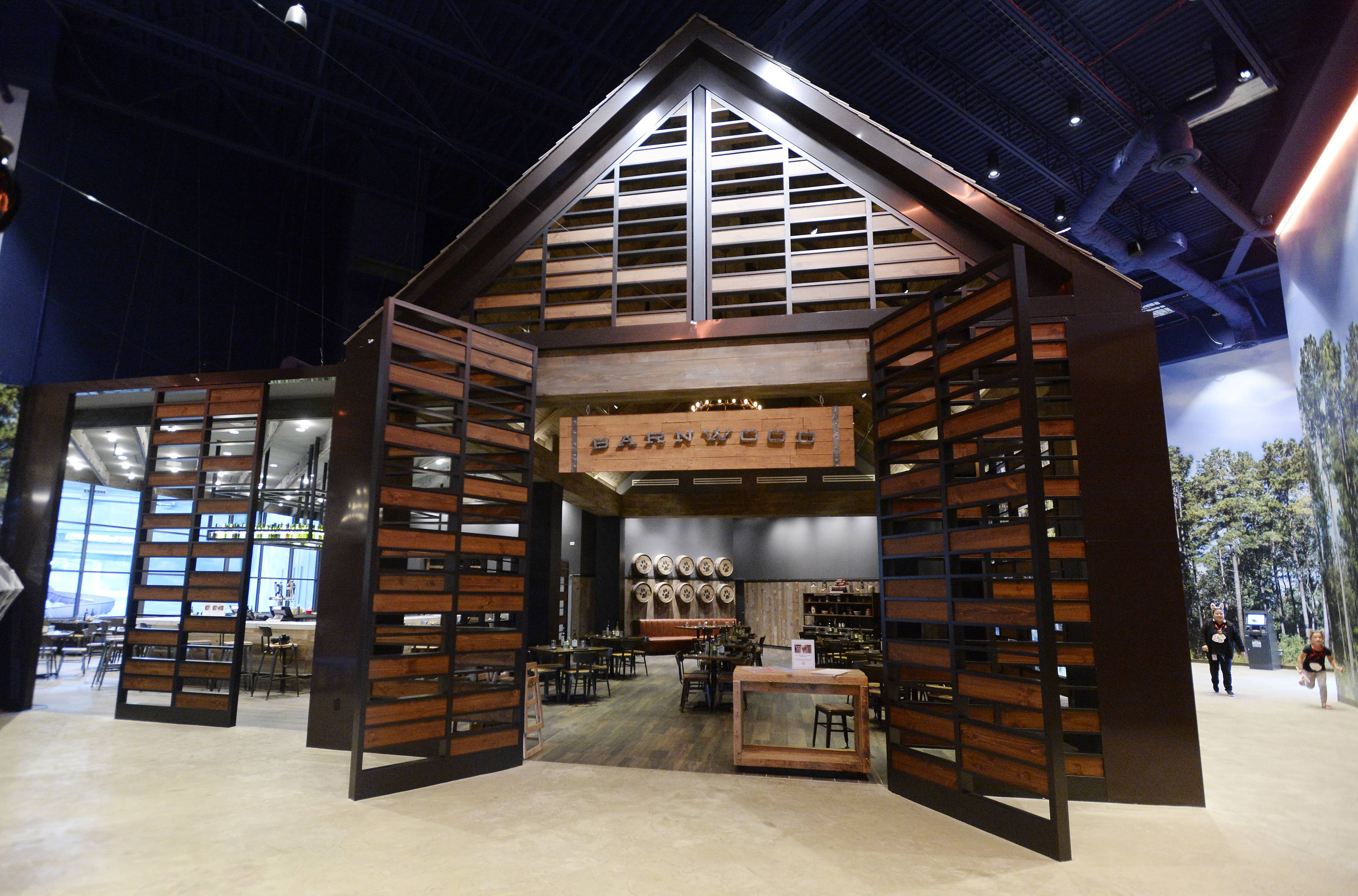Barnwood, inside Great Wolf Lodge in Gurnee, is open to the public.