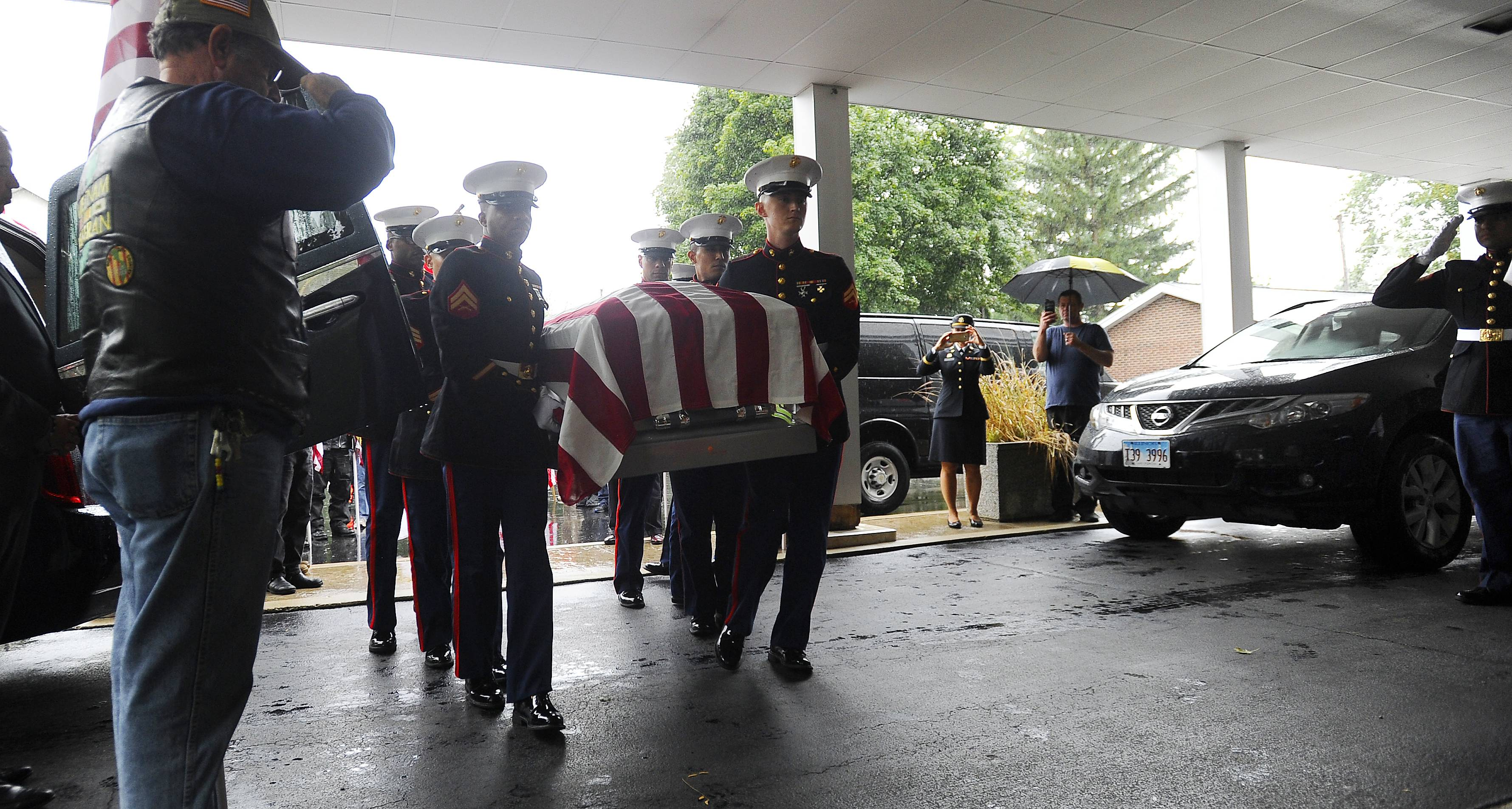 'A promise has been fullfilled': Marine killed in 1943 returned to Arlington Heights