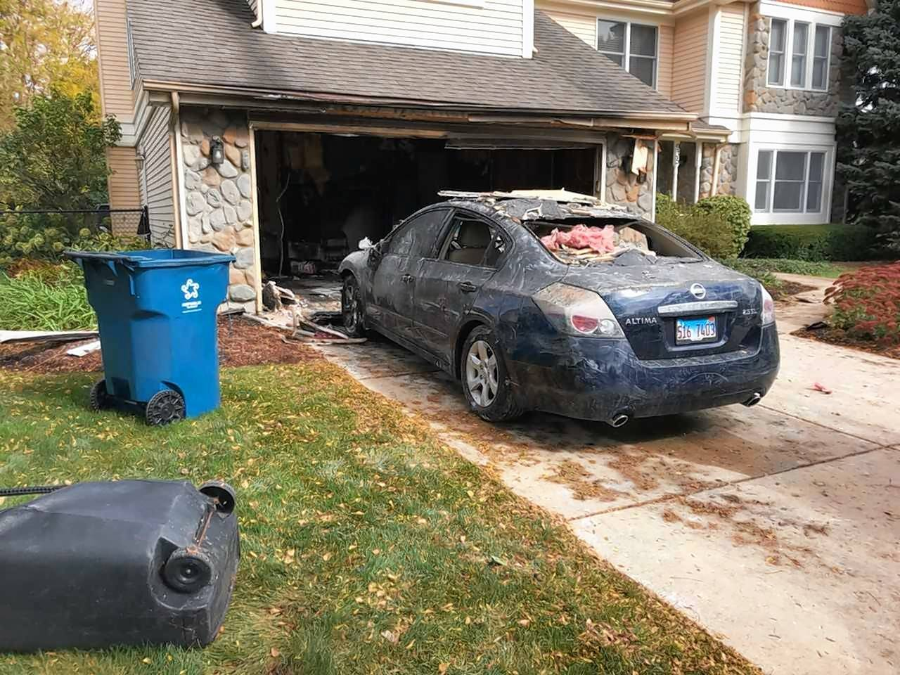 Crews responded about 11:45 a.m. Thursday to a home on the 900 block of McConnoche Court in West Dundee to find heavy smoke and fire coming from the two-car garage.