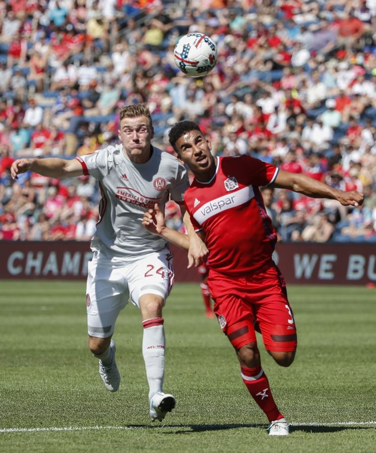The Chicago Fire lost a defender Tuesday when Brandon Vincent, right, announced his retirement via Twitter.