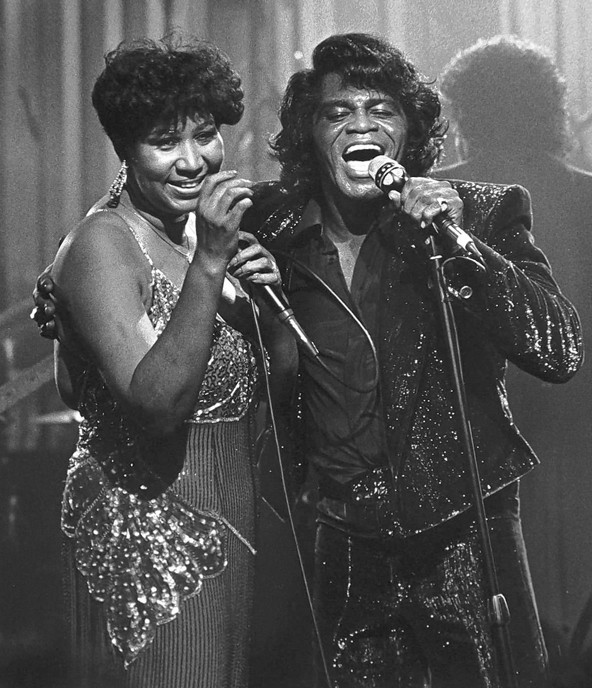 Aretha Franklin and James Brown -- so much soul on one stage.