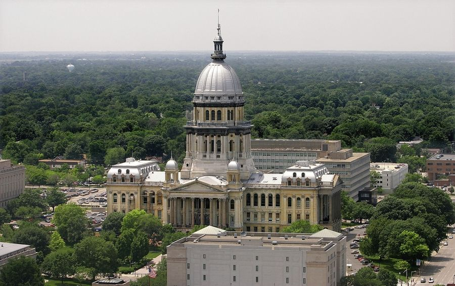 The Illinois State Capitol in Springfield will be led by Democrat supermajorities this term.