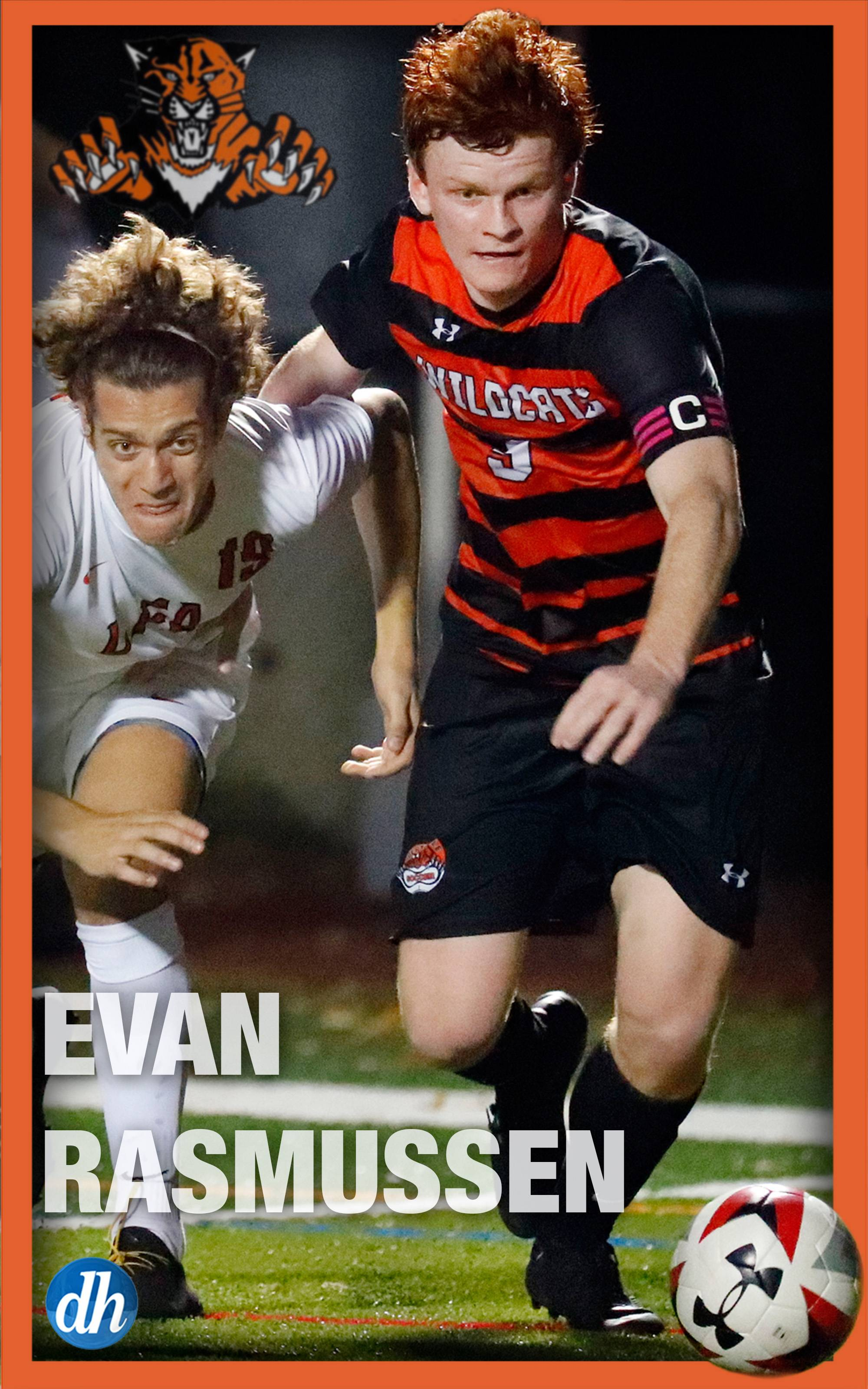 Evan Rasmussen of Libertyville High School is the All-Area Team Captain in boys soccer in Lake County.