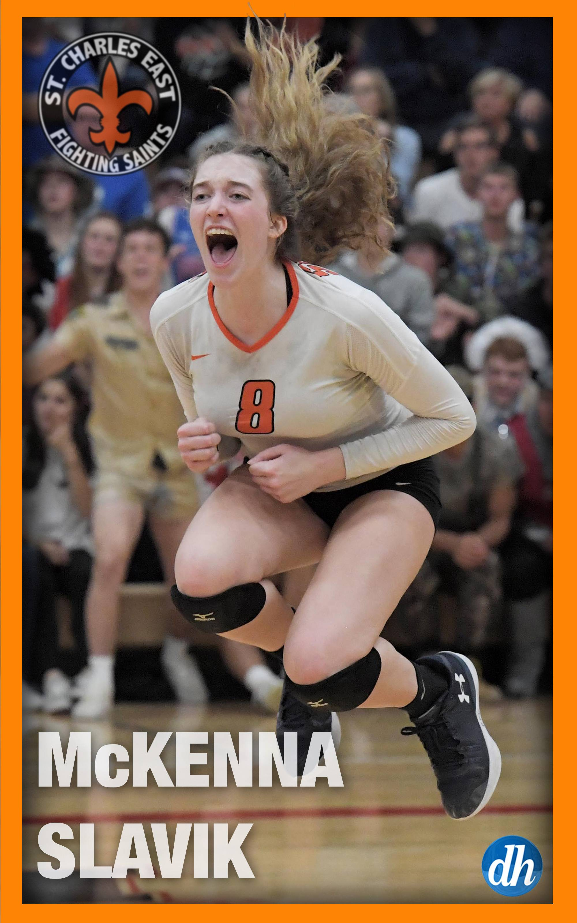 McKenna Slavic of St. Charles East High School is the All-Area Team Captain in girls volleyball in the Fox Valley.