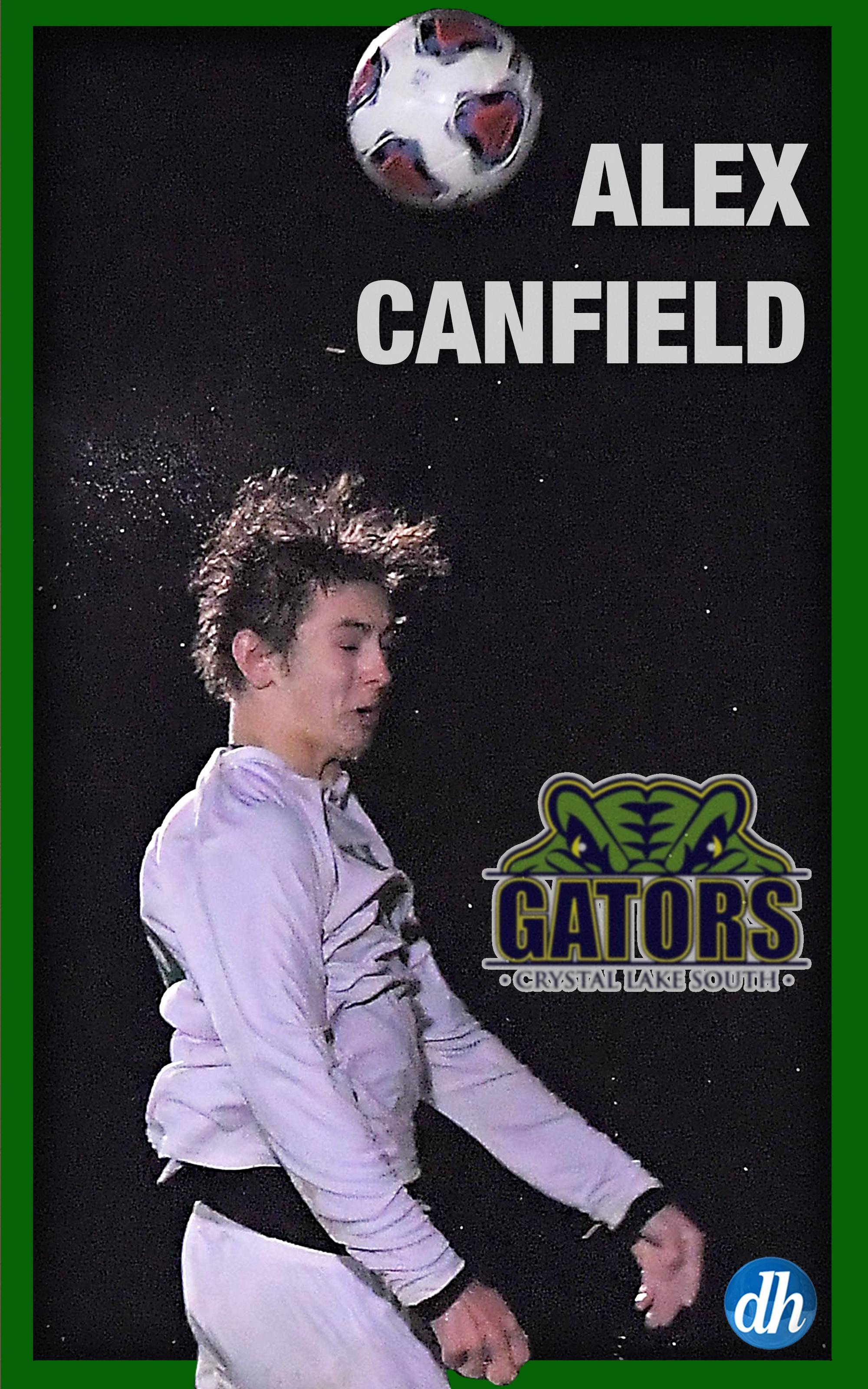 Alex Canfield of Crystal Lake South High School is the All-Area Team Captain.