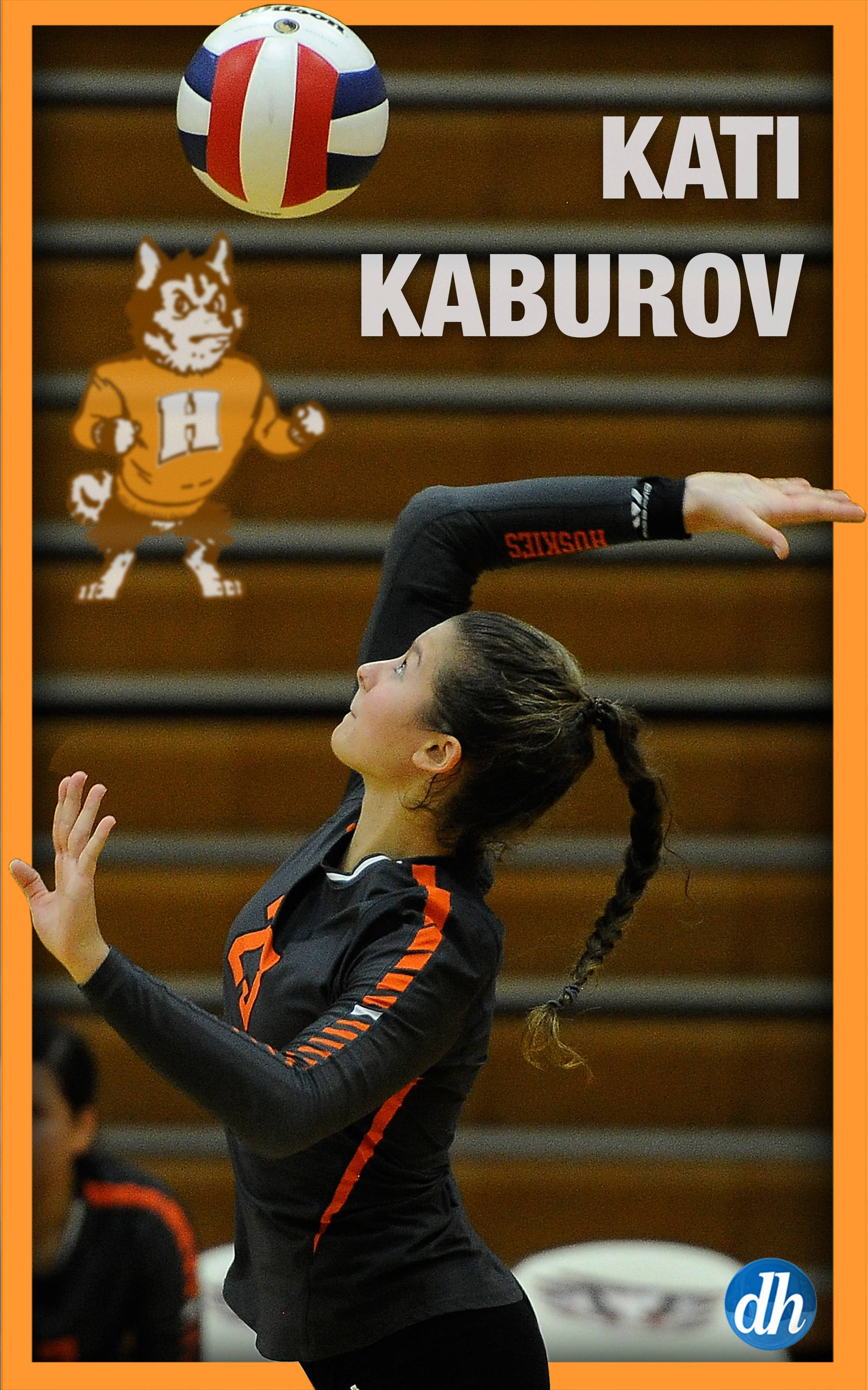 Kati Kaburov of Hersey High School is the All-Area Team Captain in girls volleyball  in the Northwest.