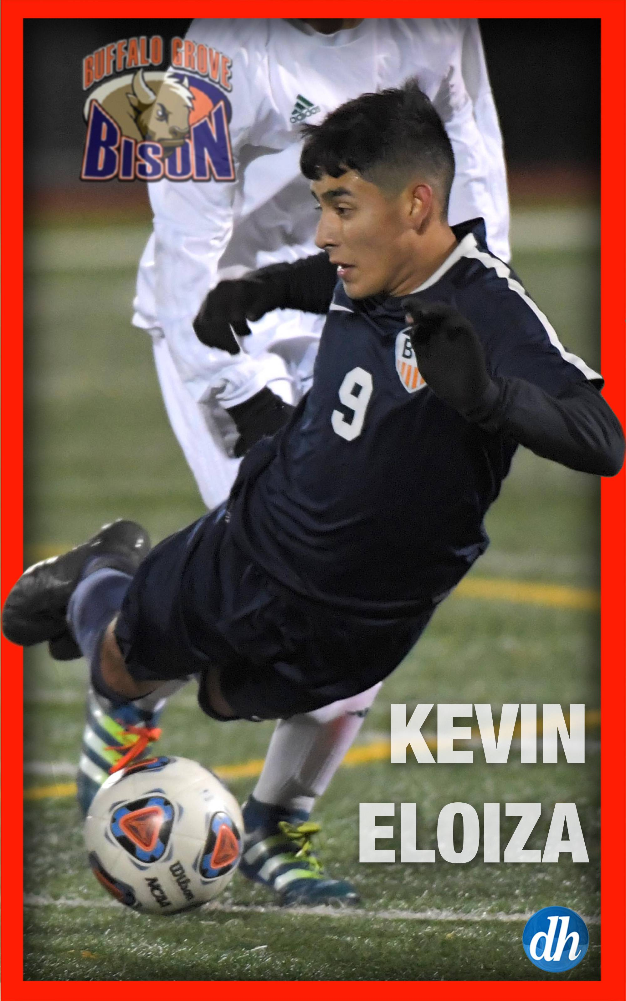 Kevin Eloiza of Buffalo Grove High School is the All-Area team captain in boys soccer in the Northwest.