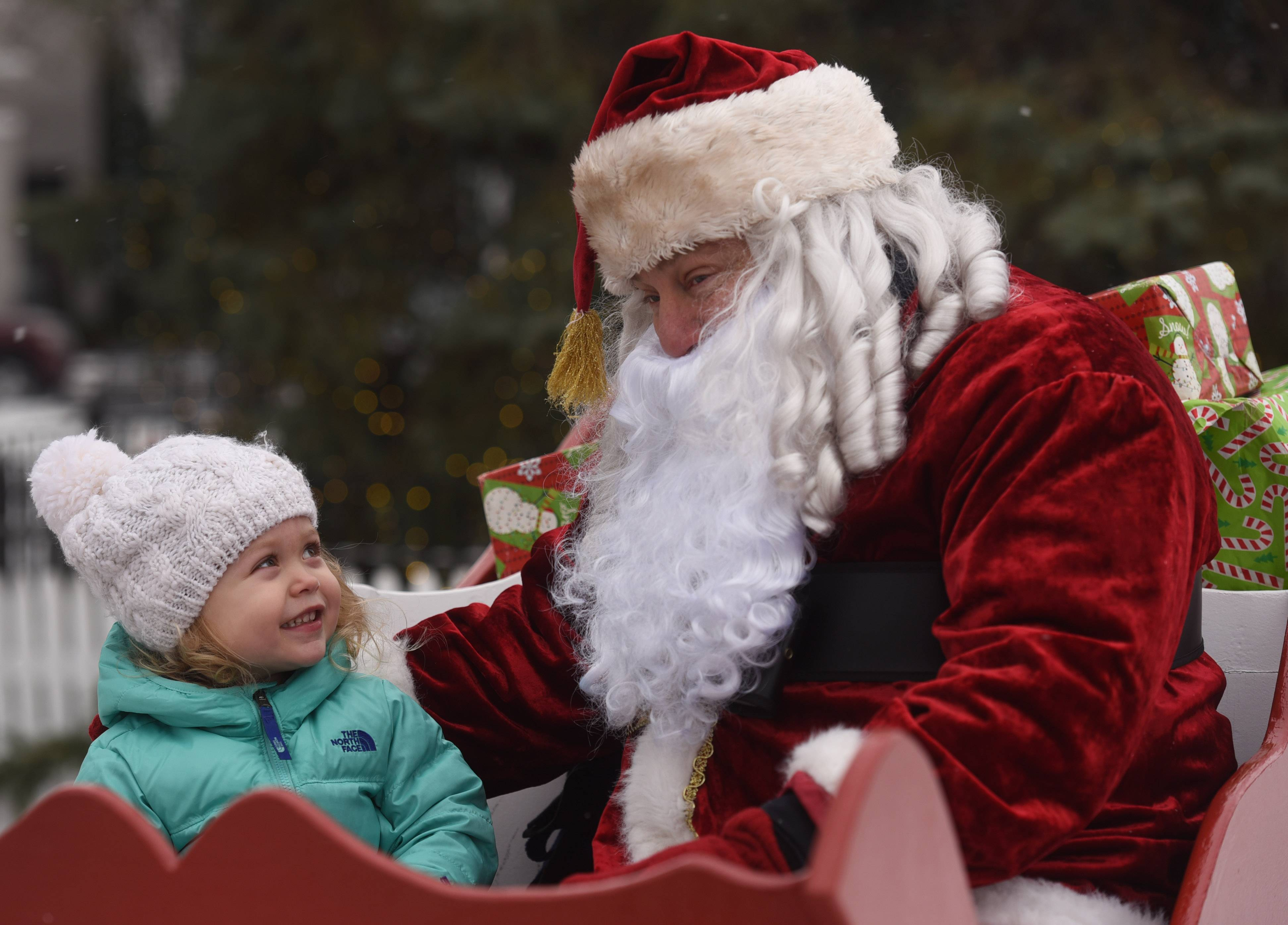 Visit with Santa Saturday during the Dickens of a Holiday event in downtown Libertyville.
