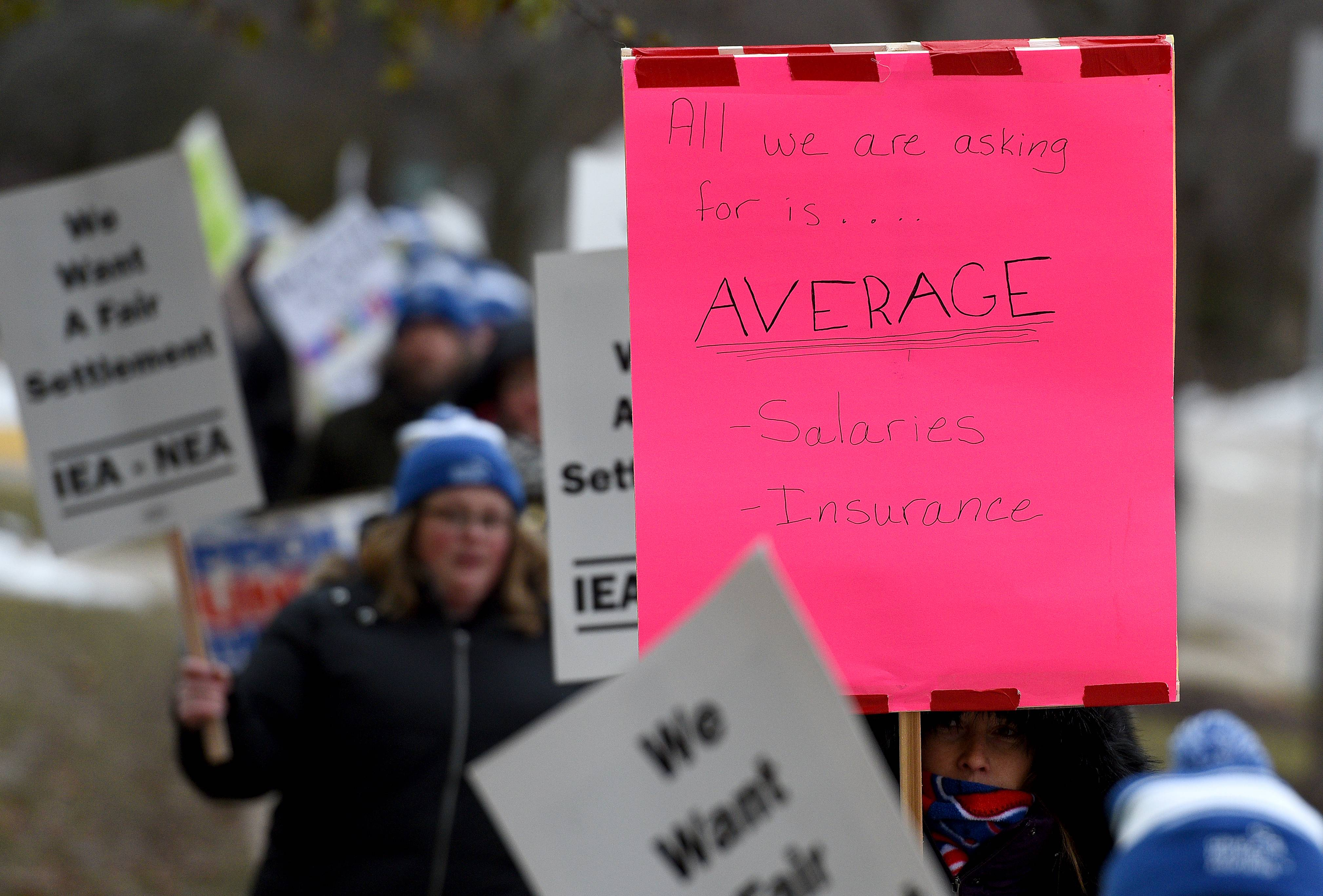 Classes for nearly 6,000 Geneva students were canceled again Wednesday as the teacher strike continued for a second day.