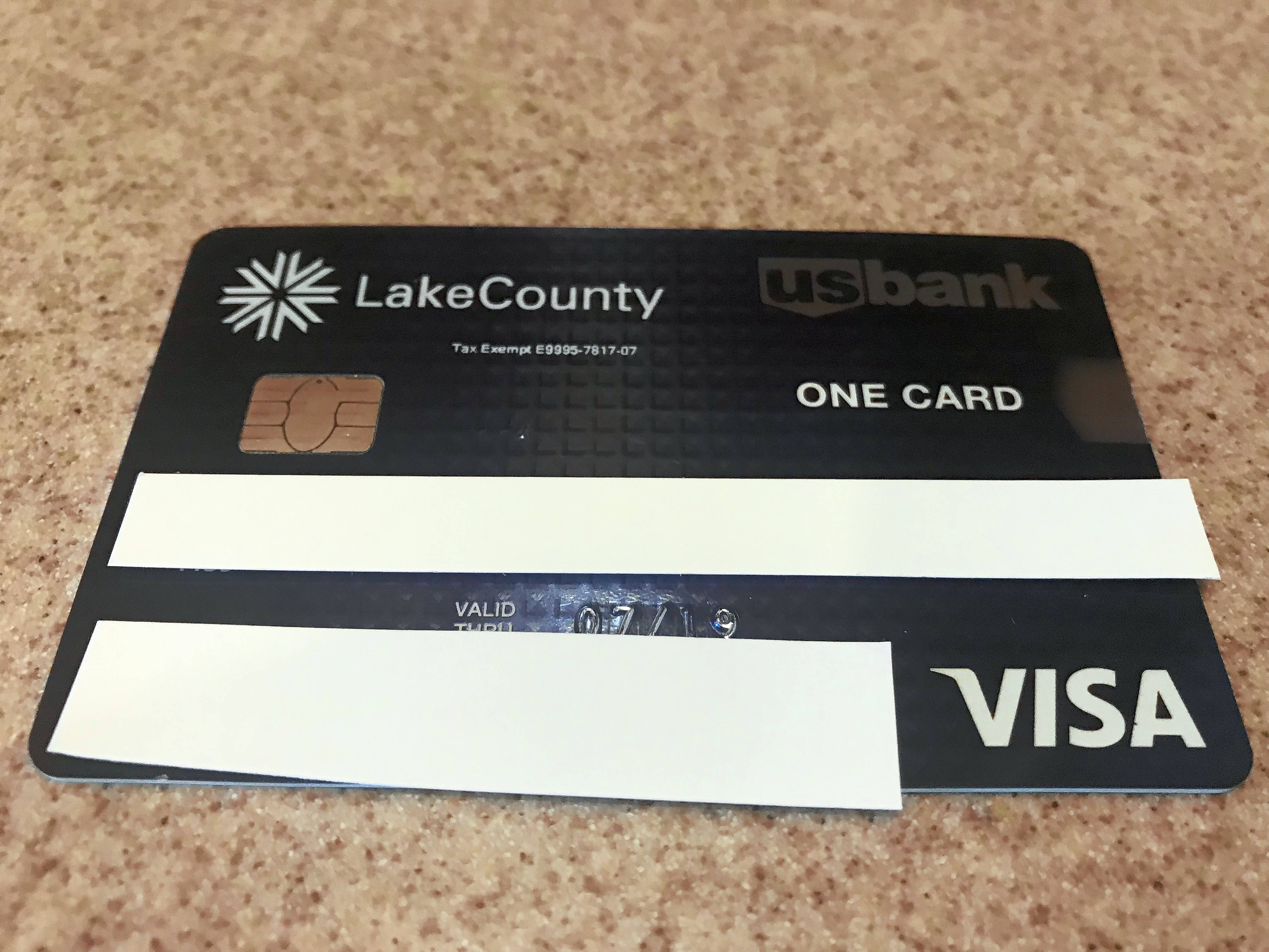 Lake County Board members voted to end use of credit cards like this one, called procurement cards, to access expense accounts.