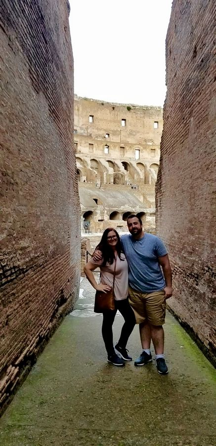 Kim (Rosewell) Spires had plenty of energy during her honeymoon in Italy with husband, Kyle.