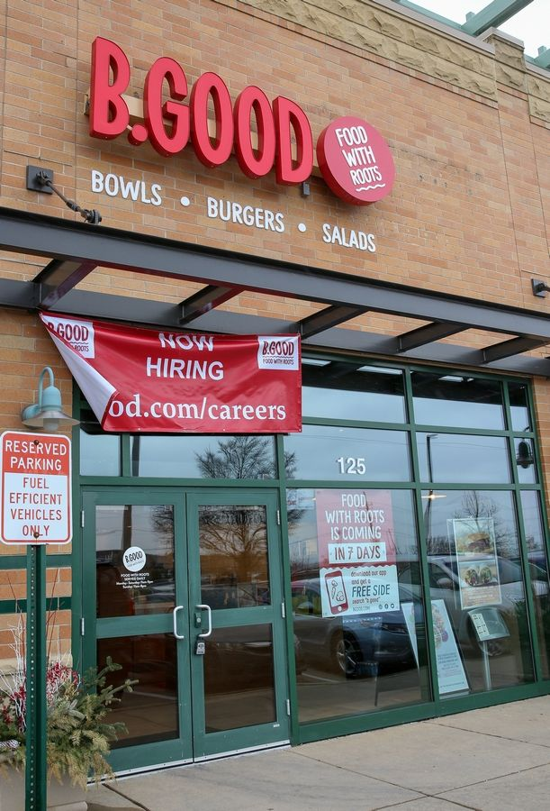 B.GOOD restaurant is scheduled to open Friday in the Springbrook Prairie Pavilion in Naperville, offering healthier fast-casual options as the New Year's resolution season begins.