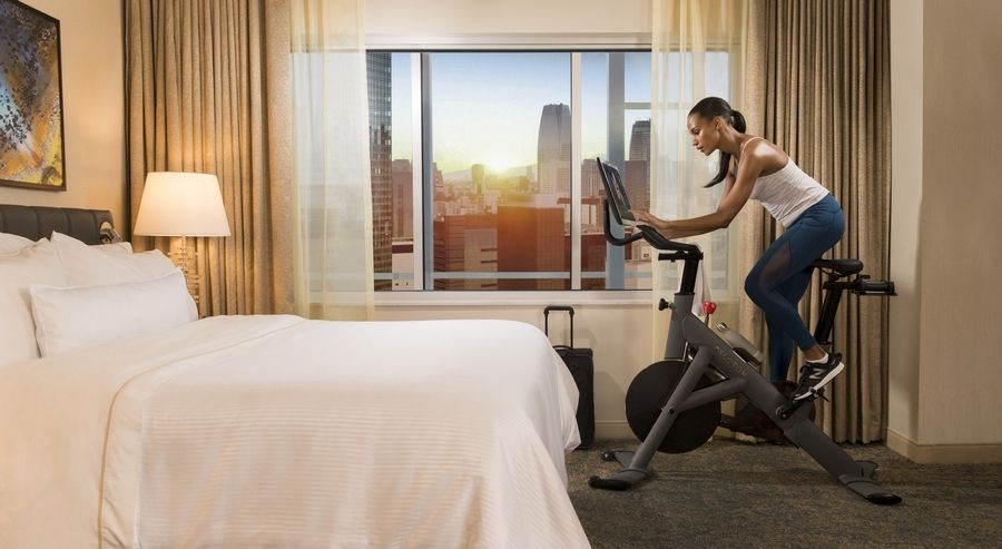 Guests at some Westin Hotels can use a Peloton bike in their own room.
