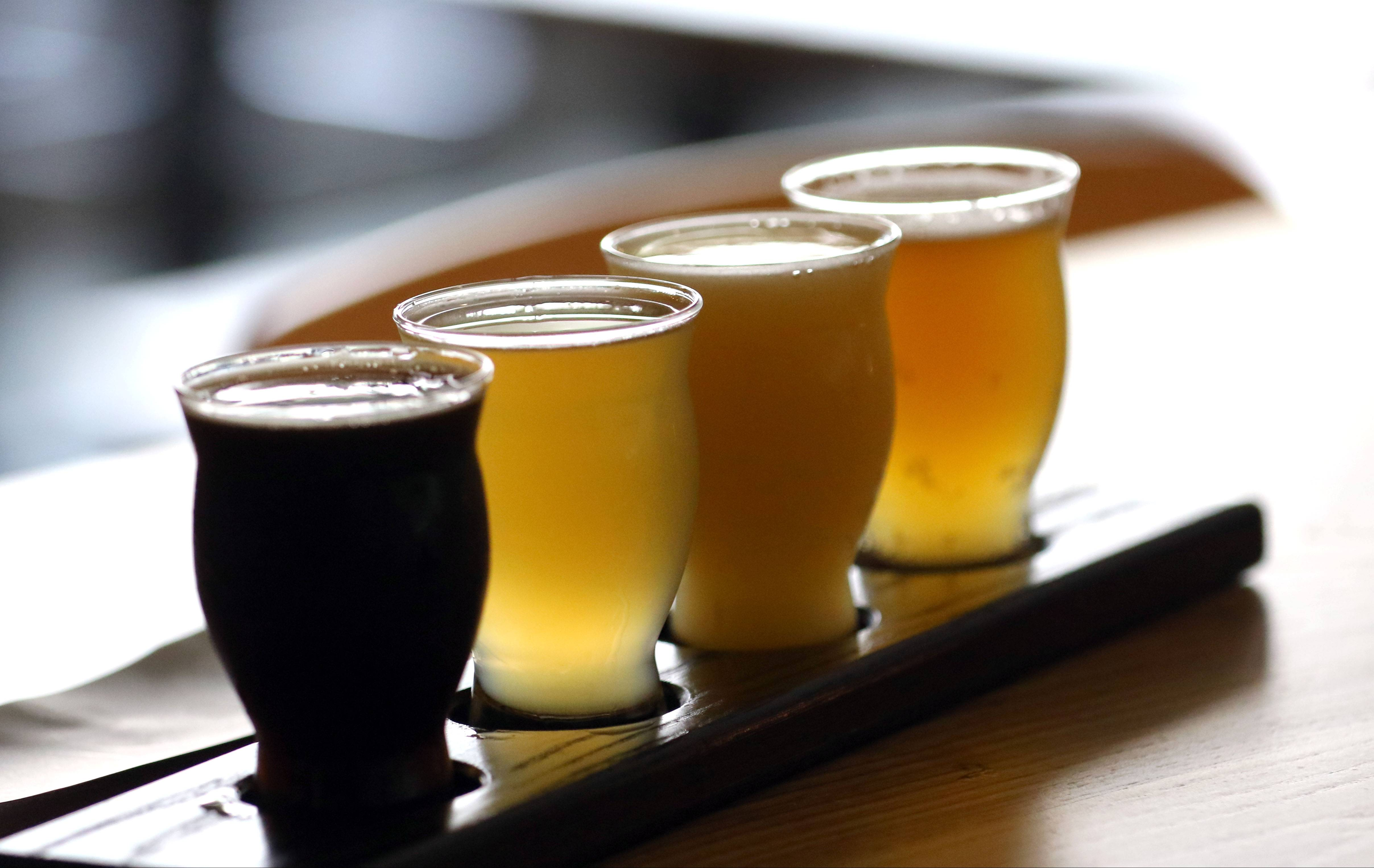 Roaring Table Brewery in Lake Zurich is one of many places in Lake County to get a flight of local brews. It's part of the Lake County Libation Trail.
