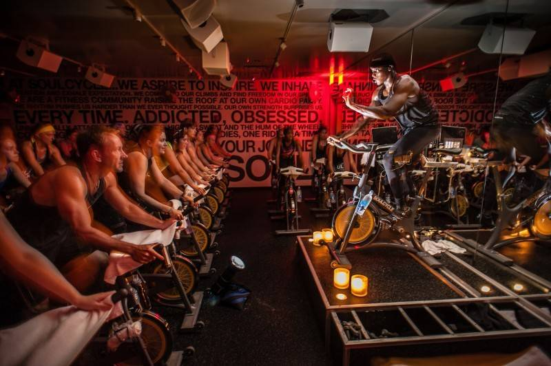 "Group exercise classes, especially ""boutique""-style classes like SoulCycle, remain popular in 2019."