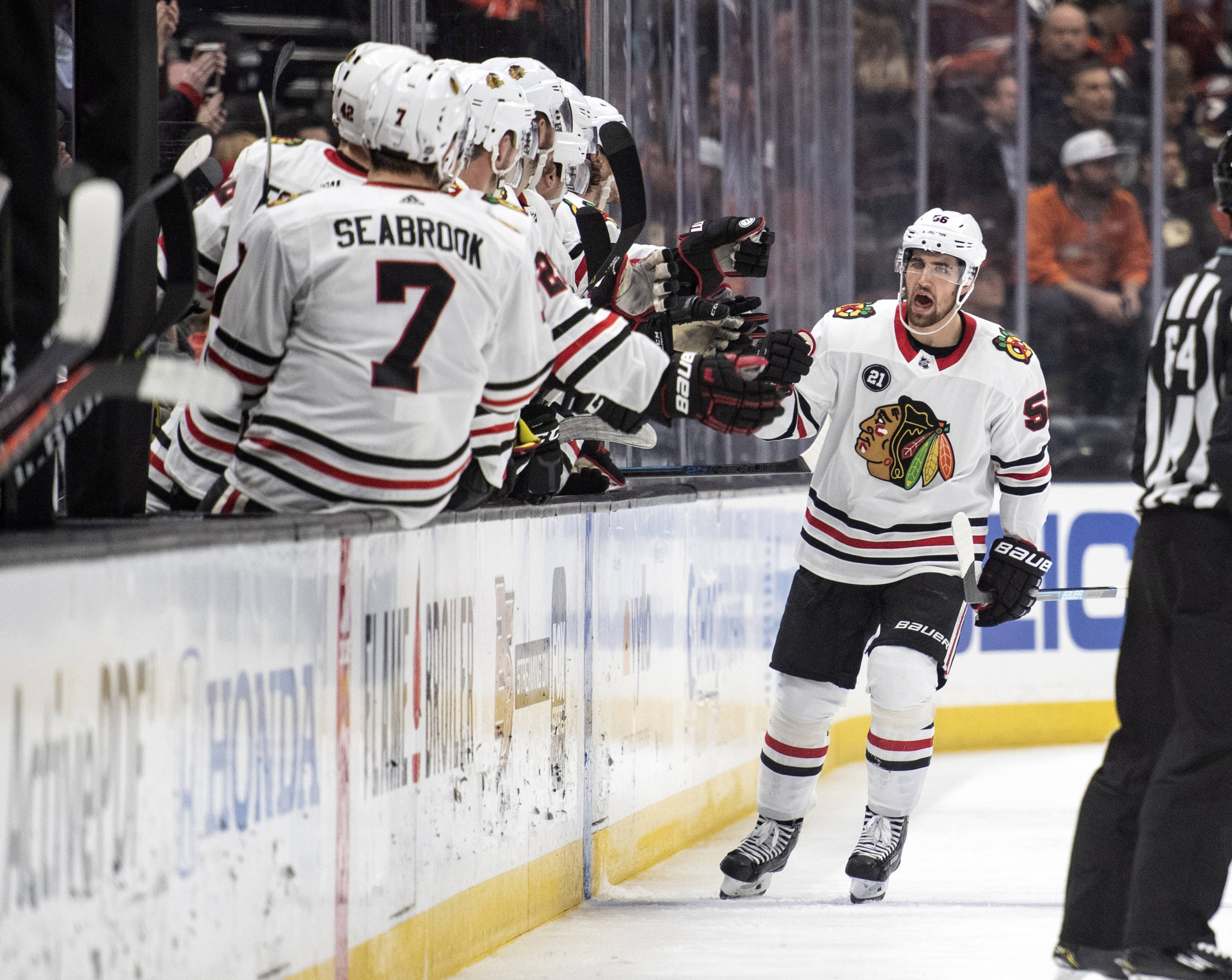 Chicago Blackhawks defenseman Erik Gustafsson has recorded an assist in eight straight games. Gustafsson is now just two games shy of tying Pierre Pilote's franchise record for most assists in consecutive games.
