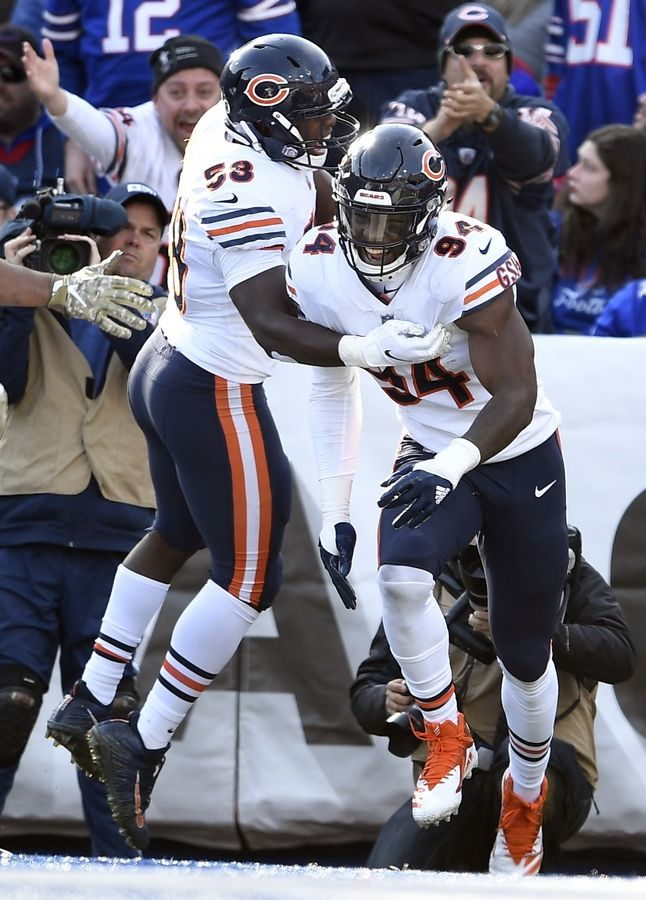 Chicago Bears general manager Ryan Pace confirmed the team plans to pick up the fifth-year option for outside linebacker Leonard Floyd (94).