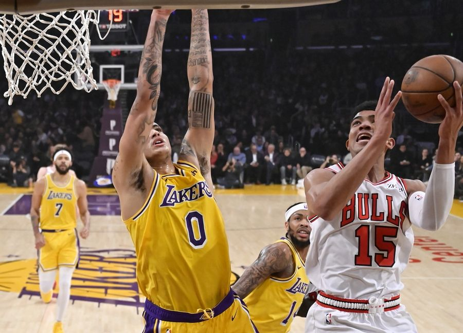 The Bulls tried to snap their seven-game losing streak against the Los Angeles Lakers late Tuesday night,. While LeBron James missed his 11th game with a groin strain, Jabari Parker returned to the Bulls' rotation.