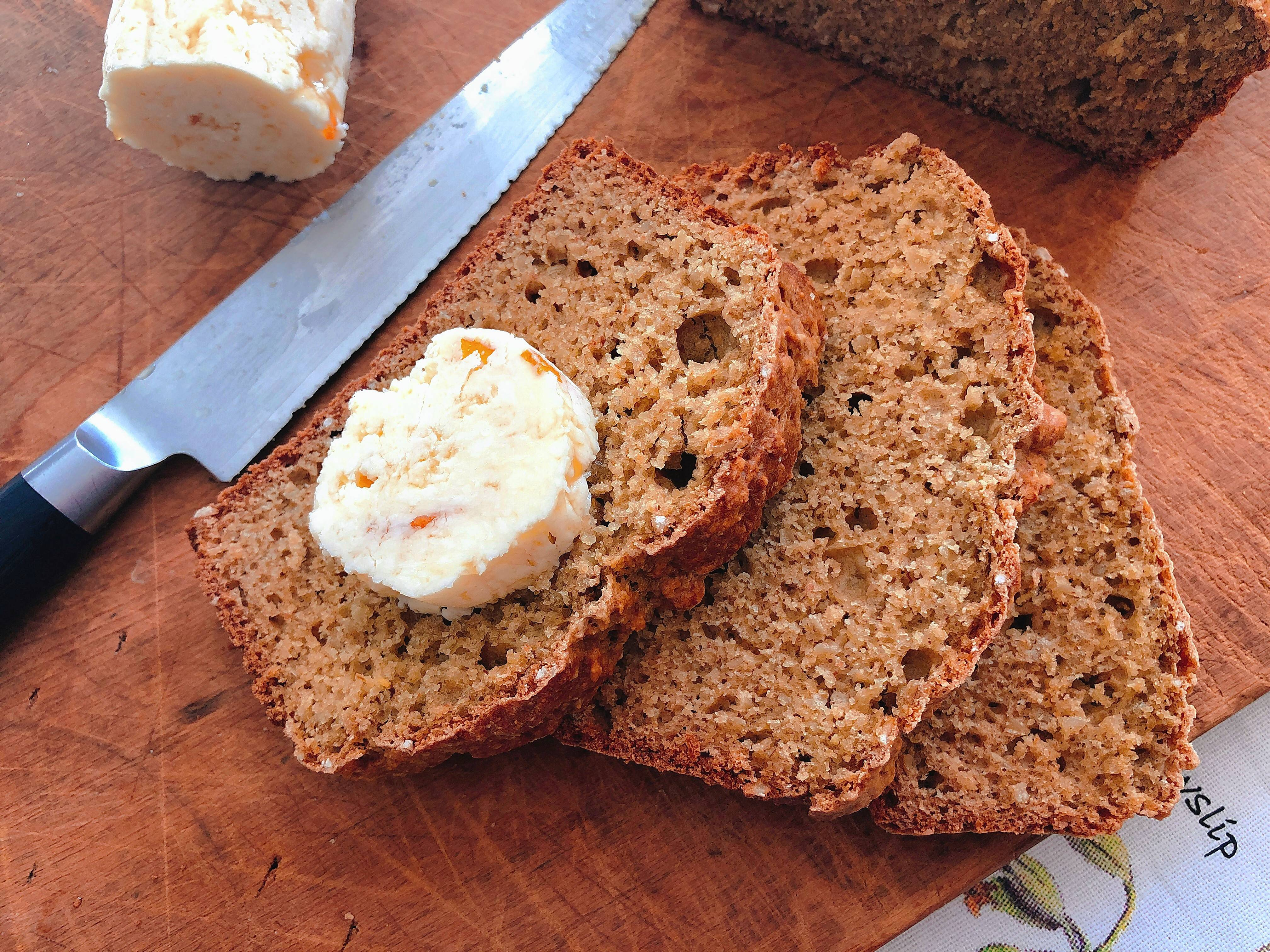 Wheaten bread with sweet Scotch whisky butter.
