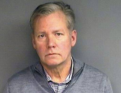"This booking photograph released Wednesday, Jan. 16, 2019, by the Stamford, Conn., Police Department shows Chris Hansen, former host of the television program ""To Catch a Predator,"" arrested Monday in his hometown of Stamford, on charges he he wrote bad checks for $13,000 worth of marketing materials."