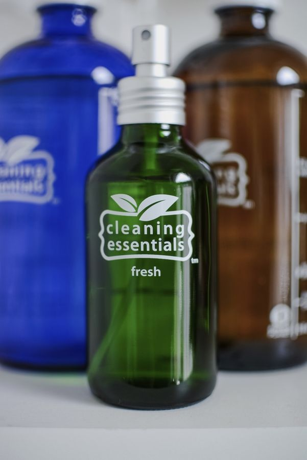 There are many reusable glass cleaning bottles available online and in stores.