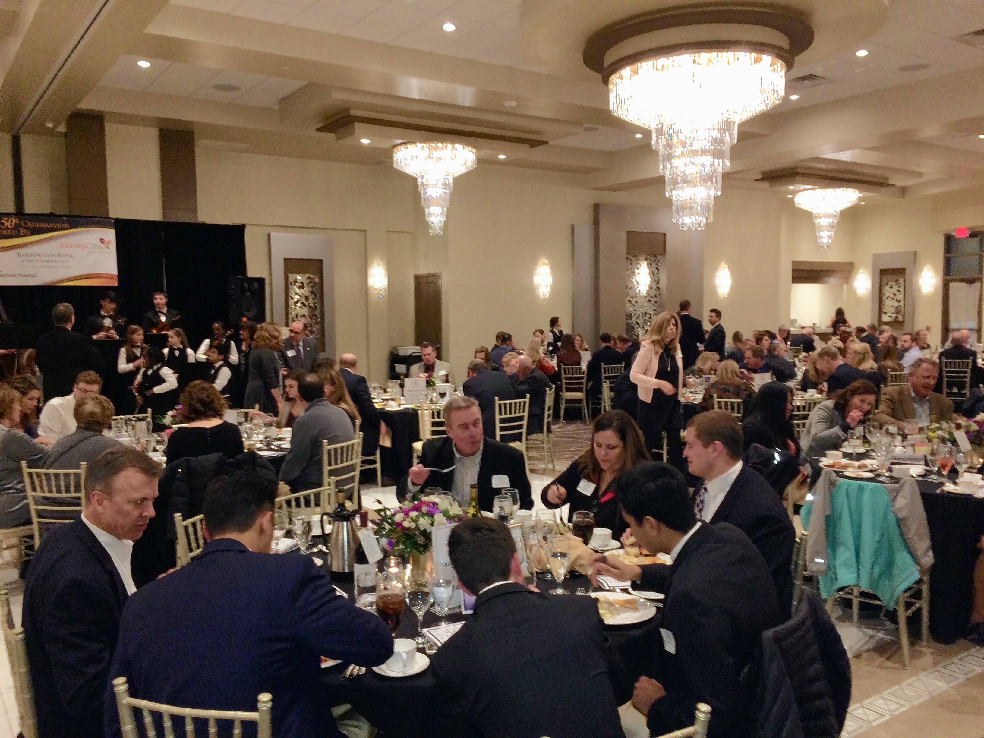 Barrington Area Chamber of Commerce is celebrating its 50th anniversary and held its annual dinner and scholarship fundraiser Thursday night at Avante Banquets and Conference Center in Fox River Grove. About 250 members and guests attended.