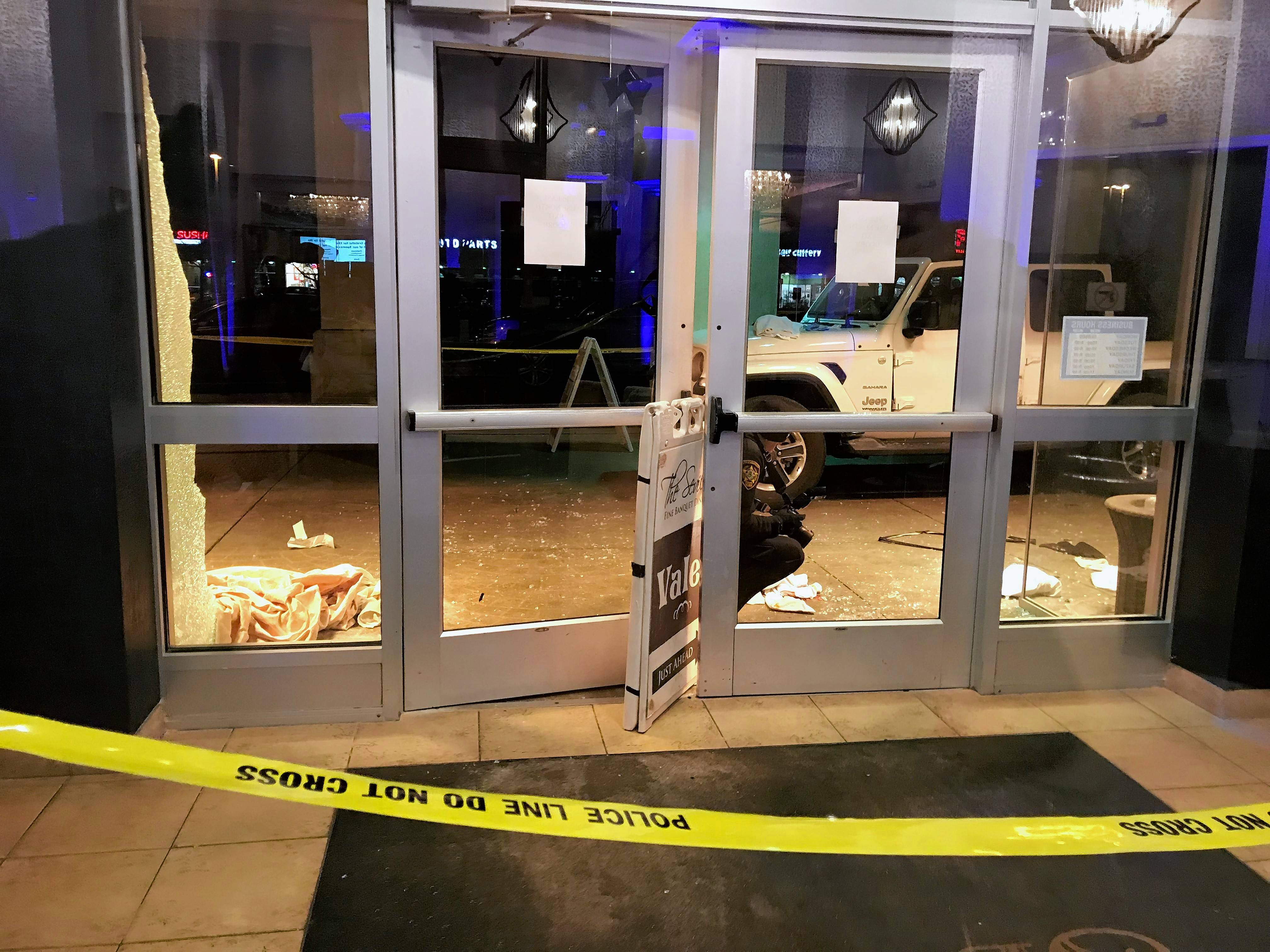 Police said Sunday that no charges are filed against the driver of a vehicle that crashed into The Seville banquet hall Friday night in Streamwood.