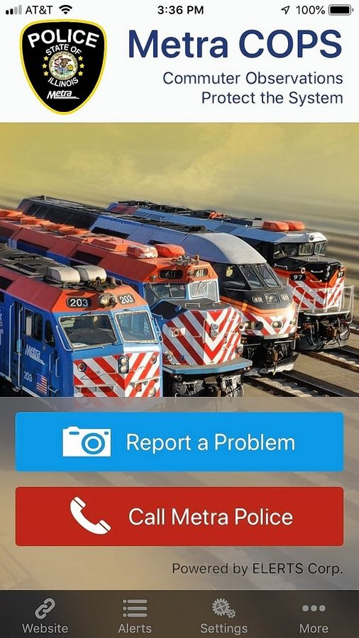 You can inform police of malfeasance on Metra using a new smartphone app debuting this week.