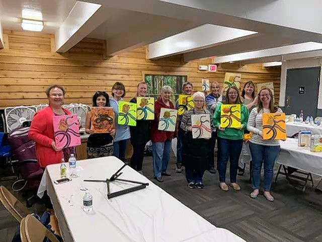 The Des Plaines Art Guild will hold a Paint 'n' Sip party Friday, May 24, at the Lake Park Pavilion. At a previous party, participant artists, in no particular order, included Gloria Ludwig, Cindy Burns, Kathleen Laurina, Kim Daufeldt, Megan Colombo, Diane Bereza, Anne Breza, Kayla Phillips, Estelle Peterson and Sean Donnelly.
