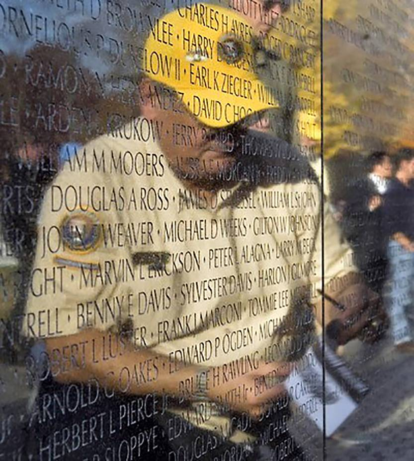 Lake Bluff resident Paul Baffico is reflected in the walls of the Vietnam Veterans Memorial in Washington, D.C.