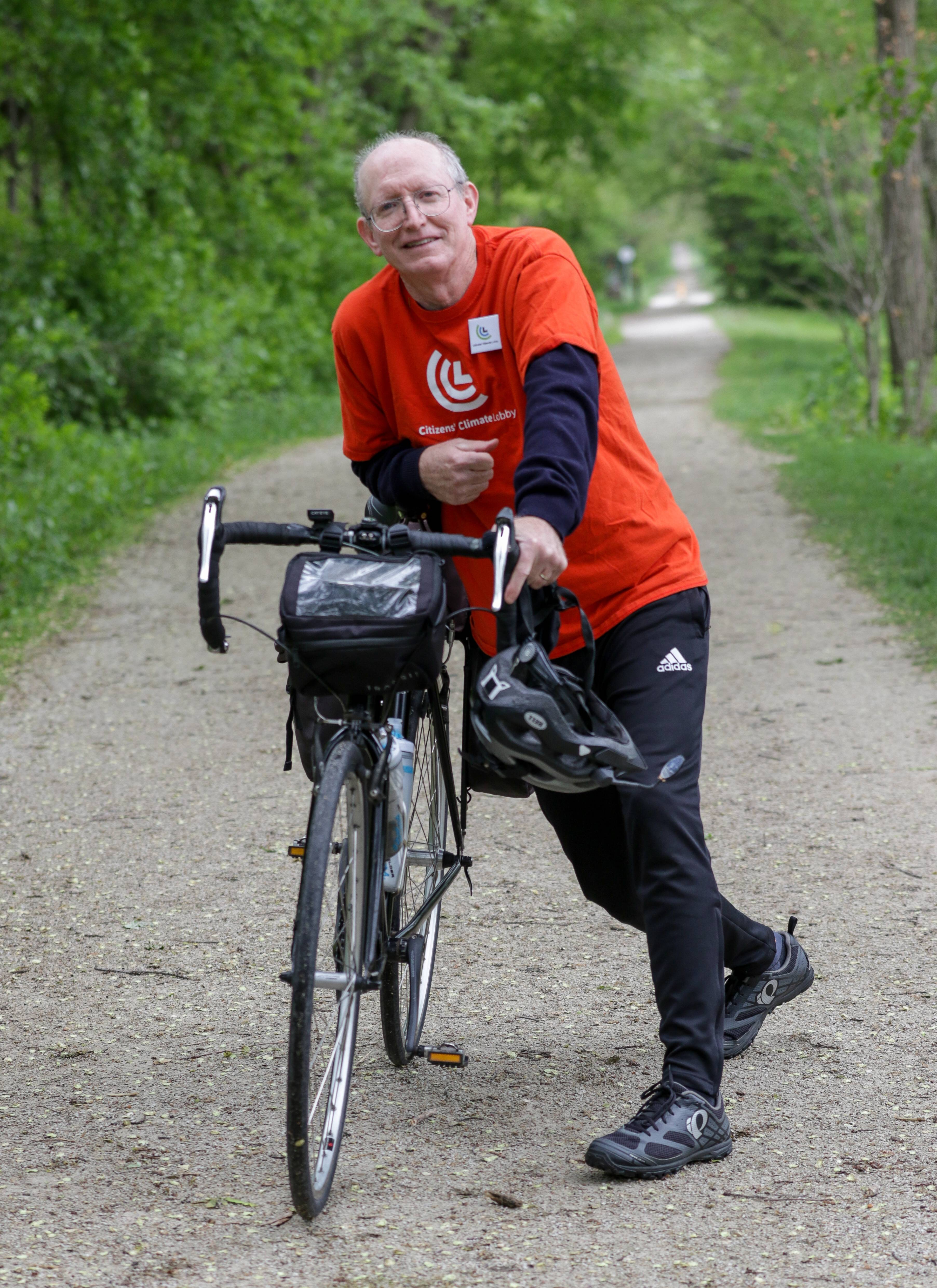 Retired physics teacher Mark Ailes, 63, of Lombard is a committed member of the Citizens' Climate Lobby and is leading a bicycle ride to Washington, D.C., to lobby Congress.