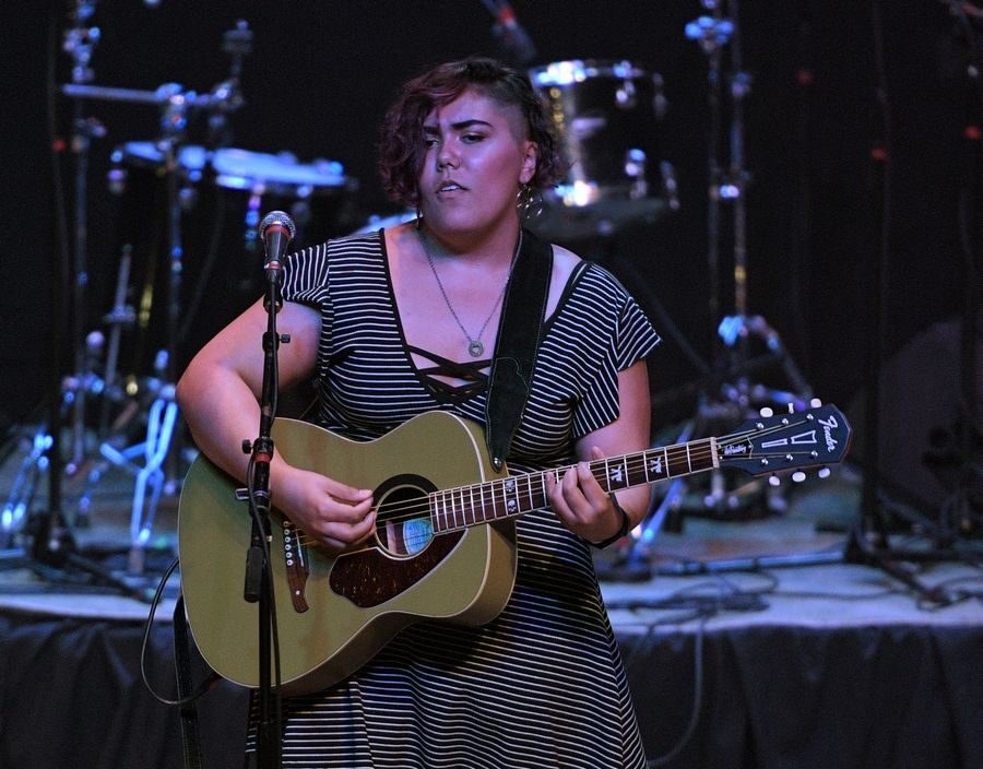Isabel Osorio performs Sunday at the Arcada Theatre in St. Charles as part of the Suburban Chicago's Got Talent Top 20 show.