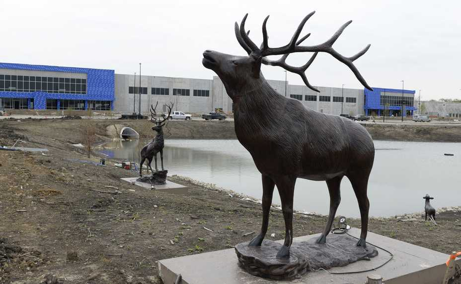 Elk statues dot the landscape of the $1 billion Elk Grove Technology Park that is being built on 85 acres in Elk Grove Village. The land was the longtime Busse farm, and twice proposed for a Chicago Bears stadium.
