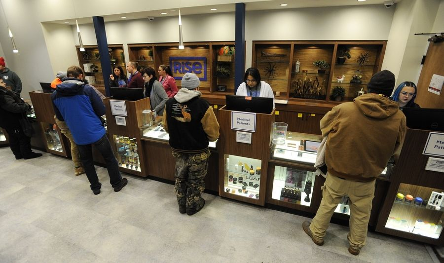 People at Rise in Mundelein are among the first to legally buy marijuana on New Year's Day.