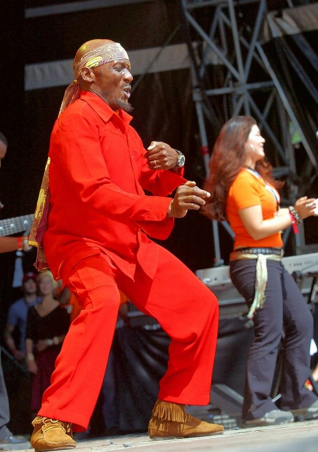 Jimmy Cliff performs at the 27th Open Air festival in St. Gallen, Switzerland, in 2003.