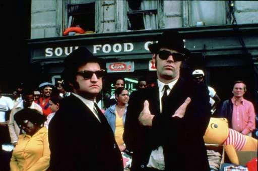 "John Belushi, left, and Dan Aykroyd are on a mission from God in the 1980 musical comedy ""The Blues Brothers."""