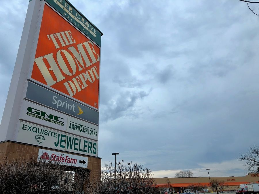 The tax increment financing district that includes this Home Depot development at Rand and Dundee roads in Palatine has a $500,000 surplus.