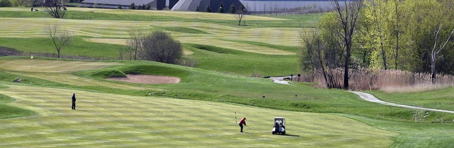 Rocco Casamassimo of South Elgin plays Wednesday at The Highlands of Elgin golf course.