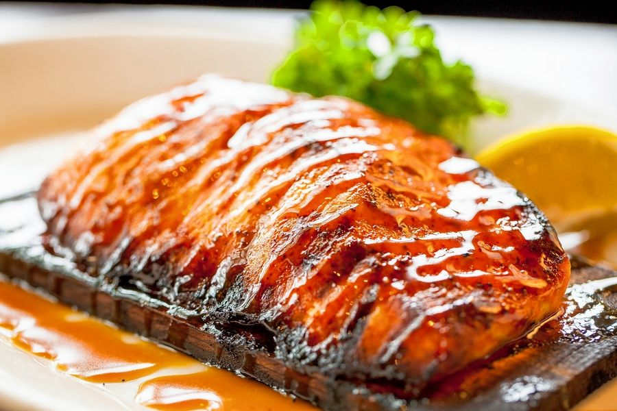 Cedar-planked salmon is on the carryout menu at Wildfire Oak Brook.