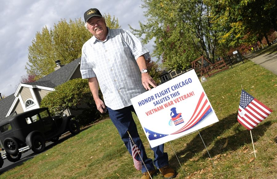 Herschel Luckinbill of Montgomery, a Navy Vietnam War veteran, is responsible for bringing the mobile Moving Wall replica Vietnam War monument to the Fox Valley and escorting veterans on 25 Honor Flights.