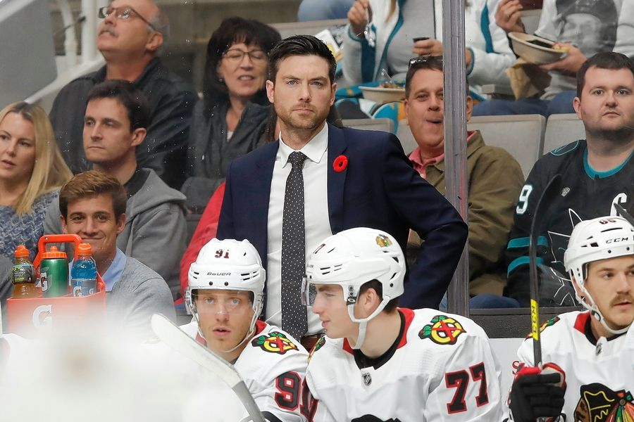 Chicago Blackhawks head coach Jeremy Colliton's job next season will be a blend of teaching young players and working with a core group of Hall of Fame players.