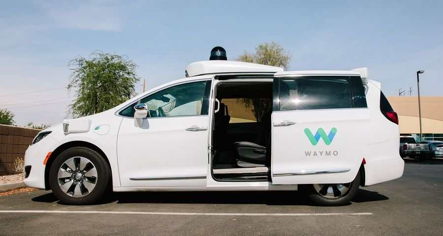 A Waymo Chrysler Pacifica autonomous vehiclein Chandler, Ariz., on July 30, 2018.