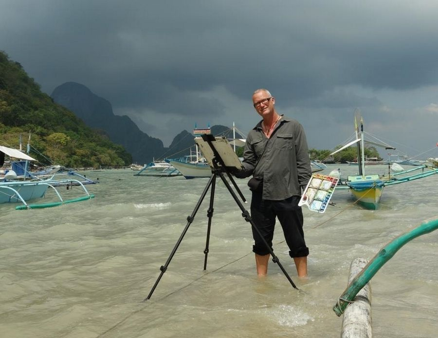 During his travels across the world, watercolor artist David Dallison will offer a virtual demonstration on plein air painting Monday, Nov. 16.