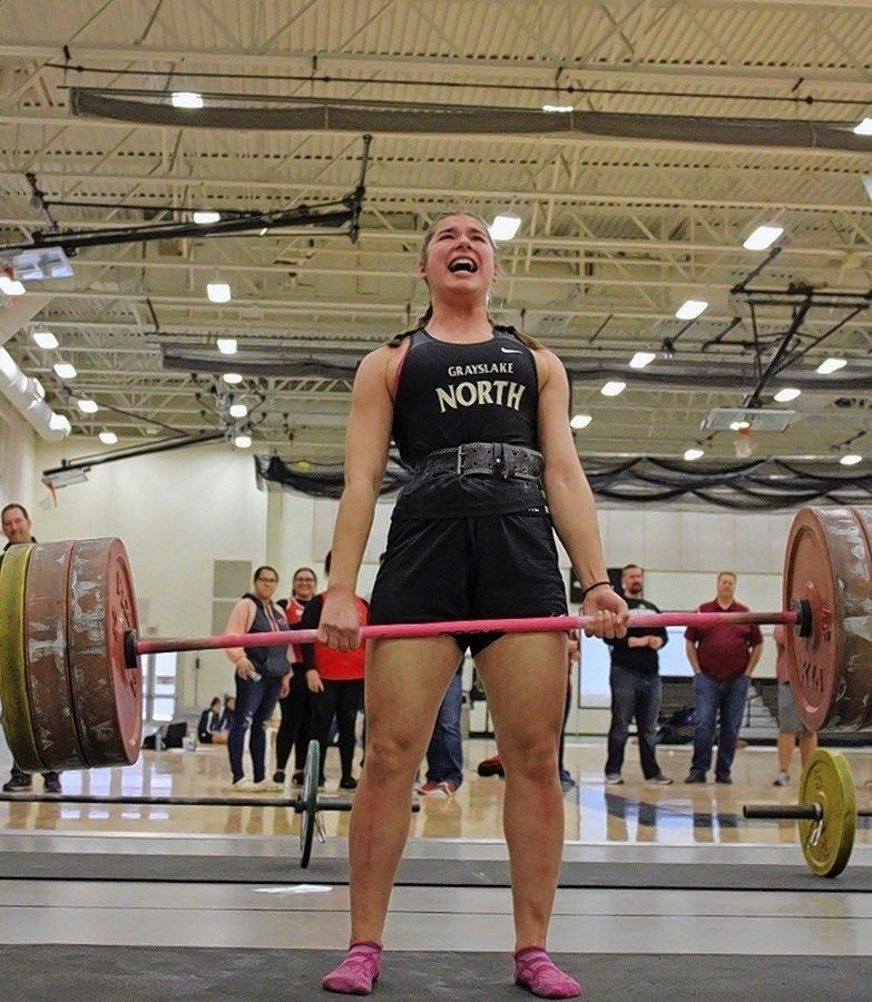 Former Grayslake North cheerleader Emily Larrivee has become one of nation's top high school weightlifters.