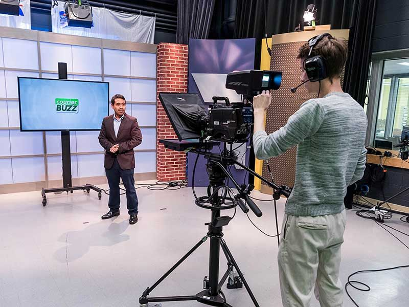 Courier TV, the student-run on-campus TV broadcast, has four segments selected as finalists for the 2020 Illinois Broadcast Association Student Silver Dome Awards.