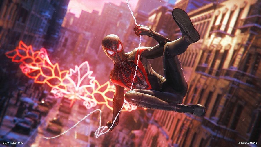 "There's a new Spidey in town in the PlayStation 4 and 5 game ""Marvel's Spider-Man: Miles Morales."""
