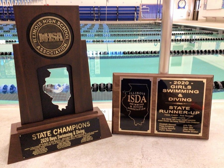 After finishing second in the girls state swimming and diving meet, St. Charles North was the 2020 boys state champions.