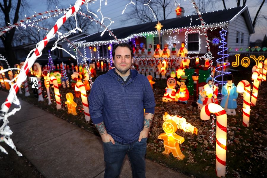 Elk Grove Village resident Richy Sandberg won last year's Daily Herald holiday lights contest. You can enter this year's contest starting Friday.