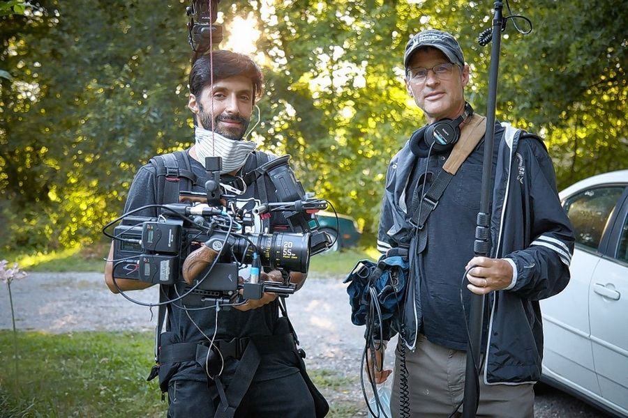 "Director of Photography Alejandro Marin, left, and Producer/Director Pat Odom captured footage in Chicago, Zion and Hainesville for the new WTTW digital series, ""Firsthand: Living in Poverty."