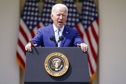 President Joe Biden speaks about gun violence prevention in the Rose Garden at the White House, Thursday, April 8, 2021, in Washington.